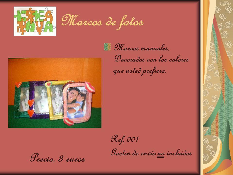 Marcos de fotos Marcos manuales. Decorados con los colores que usted prefiera. Ref, 001 Gastos de envío no incluidos Precio, 3 euros