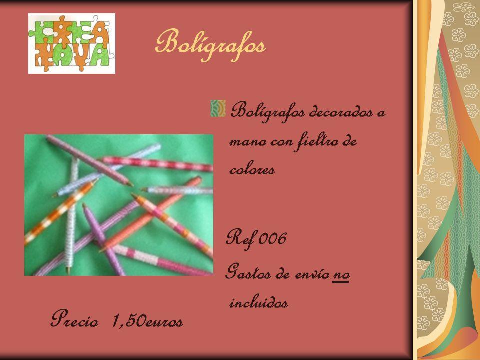 Bolígrafos Bolígrafos decorados a mano con fieltro de colores Ref 006 Gastos de envío no incluidos Precio 1,50euros
