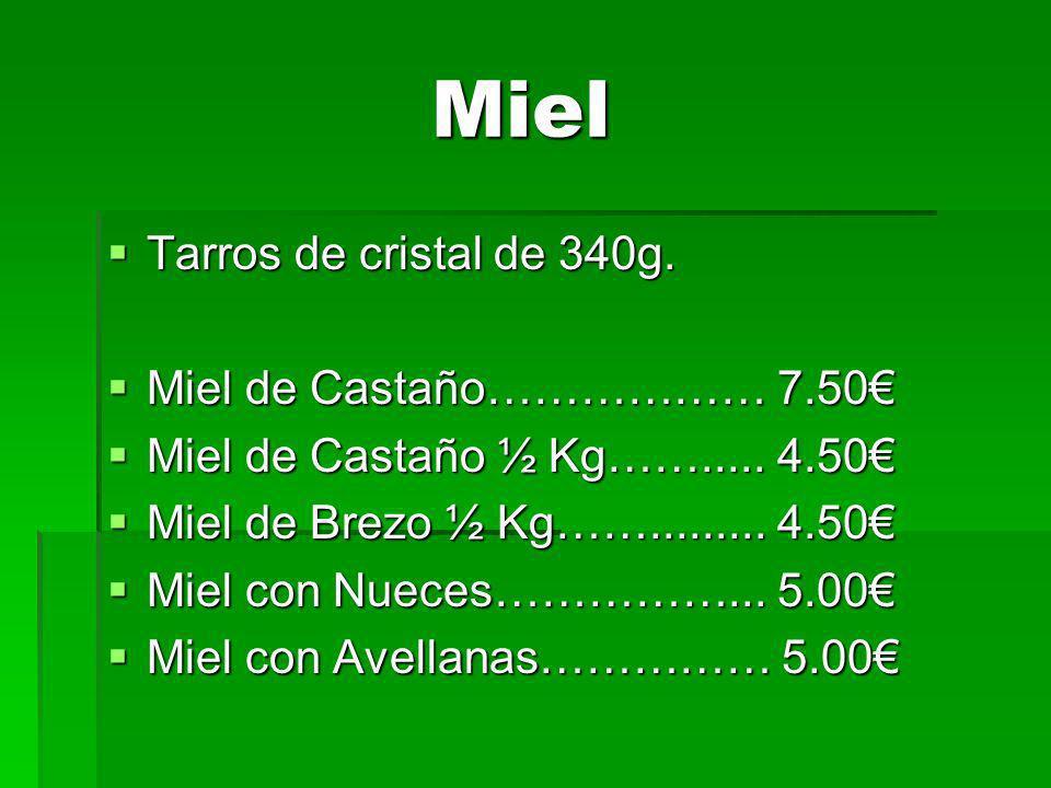 Miel Miel Tarros de cristal de 340g.Tarros de cristal de 340g.