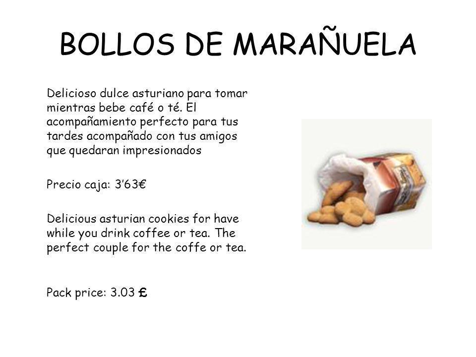 BOLLOS DE MARAÑUELA Delicioso dulce asturiano para tomar mientras bebe café o té.