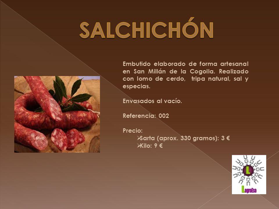 Paté elaborado de forma artesanal a partir de la mezcla de hígado con tocino de cerdo, condimentado con sal y especias.