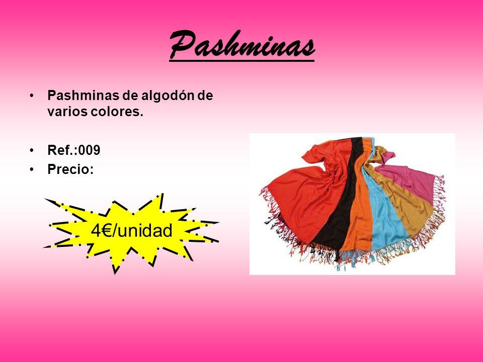 Pashminas Pashminas de algodón de varios colores. Ref.:009 Precio: 4/unidad