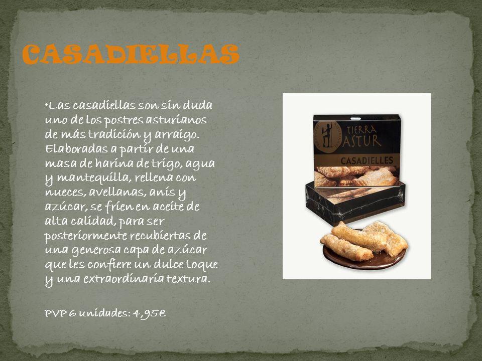 Pastas artesanales típicas de Asturias, elaboradas con avellana, huevo, miel y azúcar.