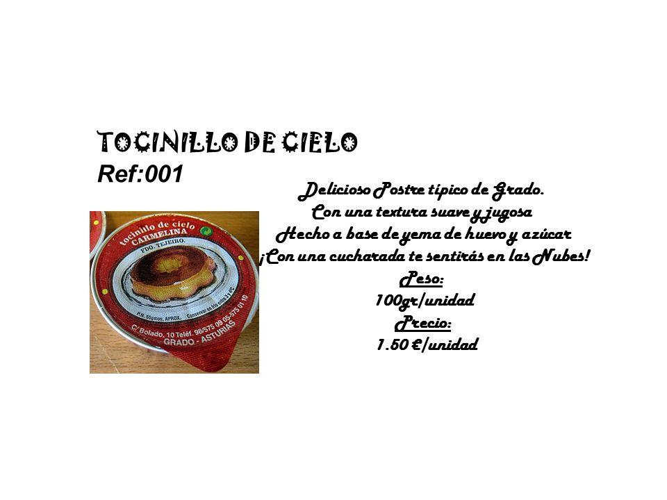 TOCINILLO DE CIELO Ref:001 Delicioso Postre típico de Grado.