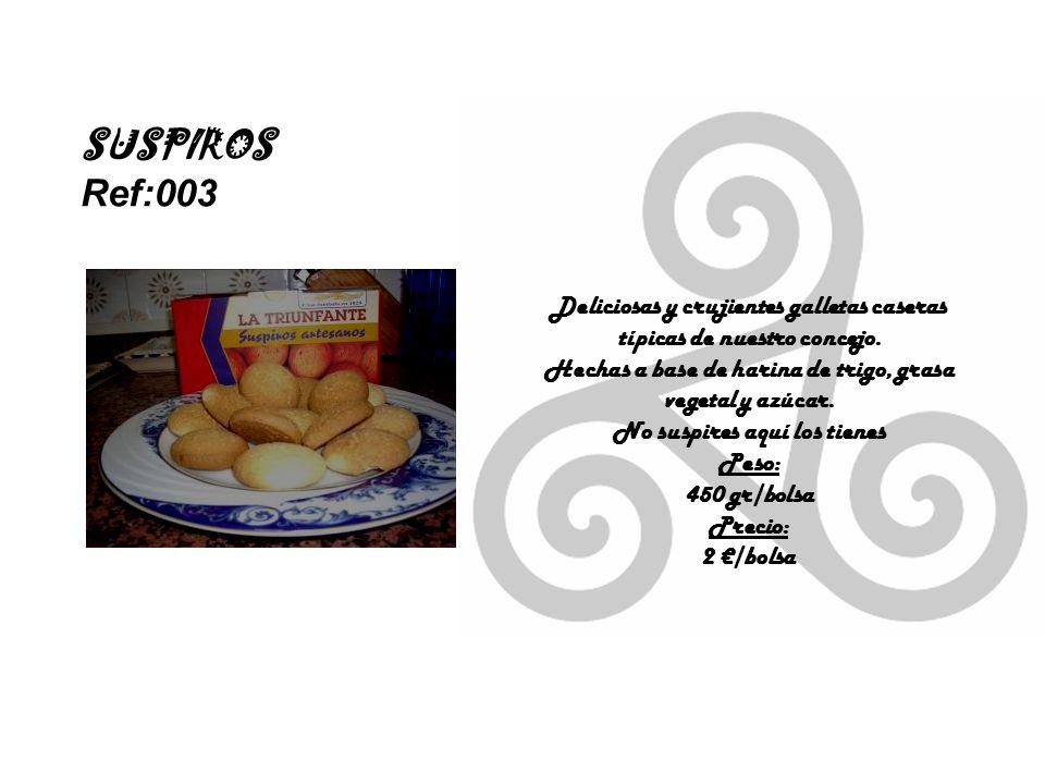 SUSPIROS Ref:003 Deliciosas y crujientes galletas caseras típicas de nuestro concejo.