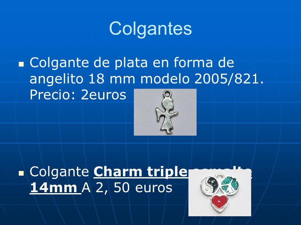 Colgantes Colgante de plata en forma de angelito 18 mm modelo 2005/821. Precio: 2euros Colgante Charm triple esmalte 14mm A 2, 50 euros