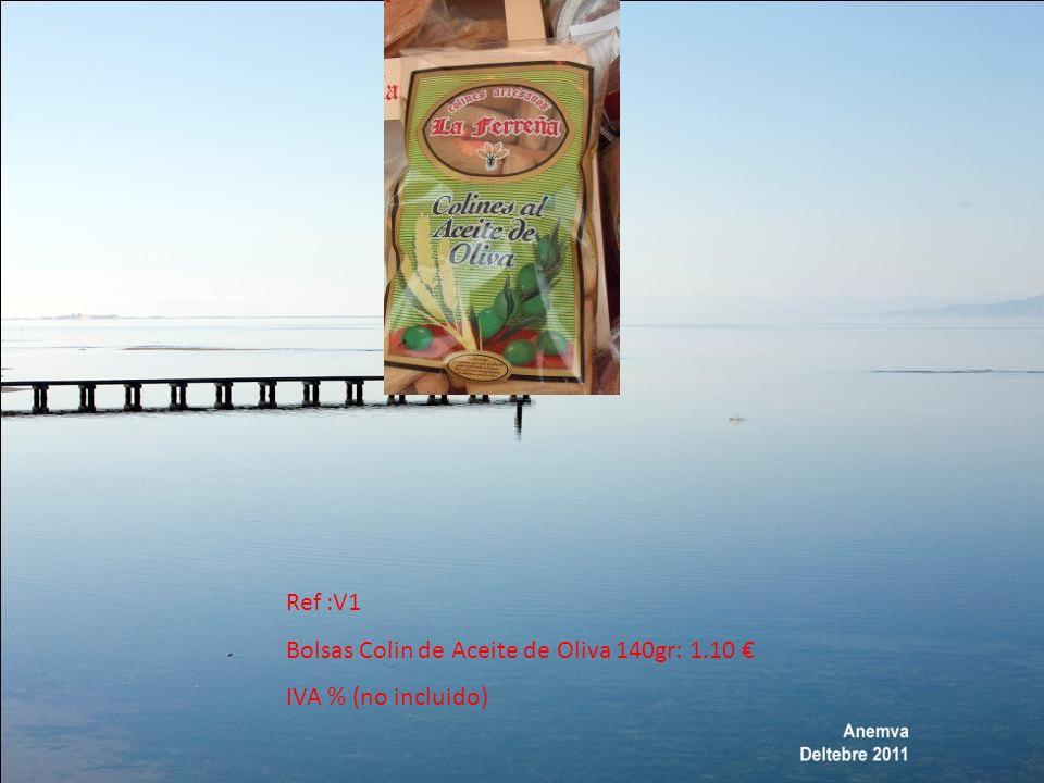 Bote de 200Gr Escurrido Típicas también de la zona Murciana Precio : 0.80 Aceitunas Negras Ref :A5