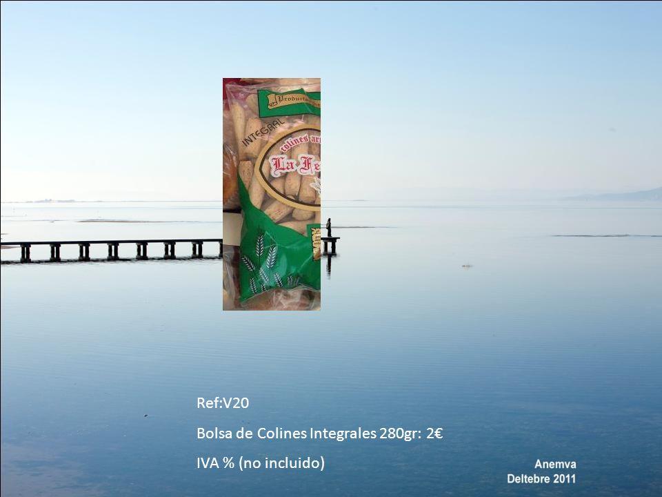 REFERENCIAS: ACEITUNAS Aceitunas rellenas de anchoa = Tamaño 240/260 (OO1) Aceitunas rellenas de anchoa = Tamaño 200/220 (OO2) aceitunas rellenas de anchoa= tamaño 180/200 (OO3) Pepinillosformato 500 gramos, tamaño300/400 (OO4) Banderillas picantes, formato 400 gramos (OO5) Aceitunas aliñadas gazpacho formato 500 gramos (OO6) aceitunas negras formato 200 gramos (OO7)