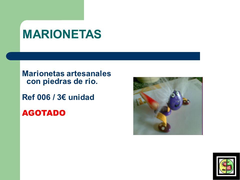 MARIONETAS Marionetas artesanales con piedras de rio. Ref 006 / 3 unidad AGOTADO