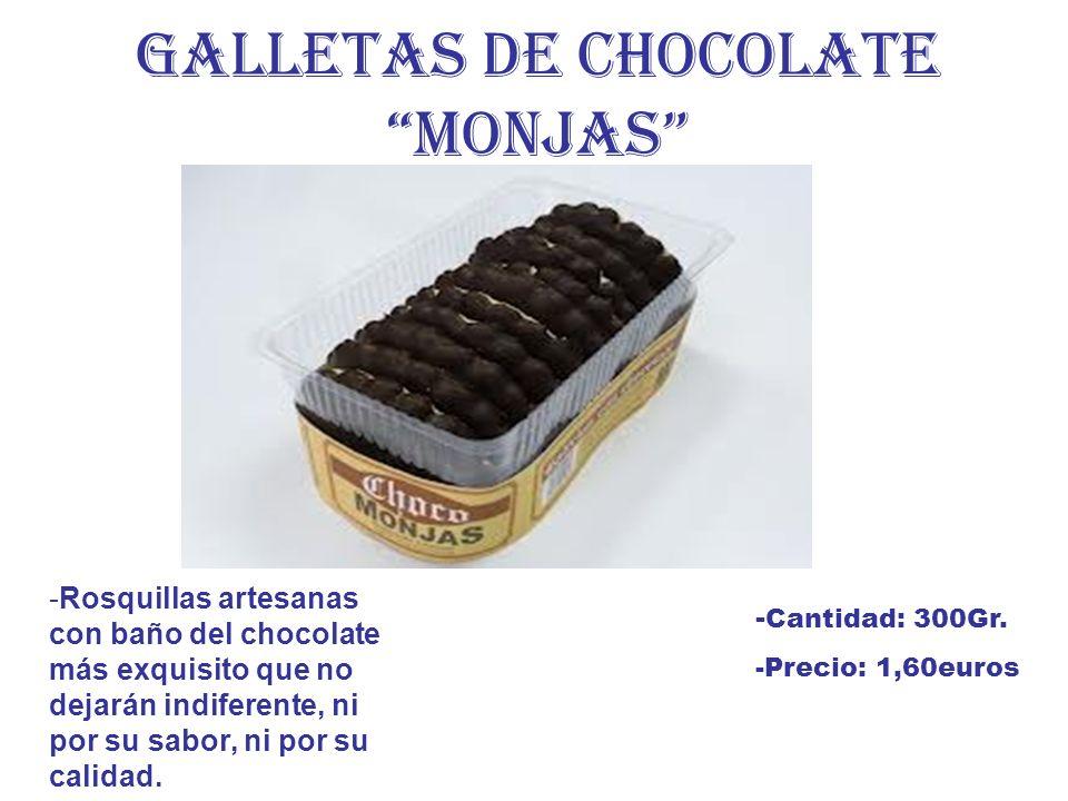 GALLETAS DE CHOCOLATE MONJAS -Rosquillas artesanas con baño del chocolate más exquisito que no dejarán indiferente, ni por su sabor, ni por su calidad