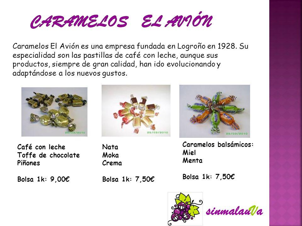 Caramelos El Avión es una empresa fundada en Logroño en 1928. Su especialidad son las pastillas de café con leche, aunque sus productos, siempre de gr
