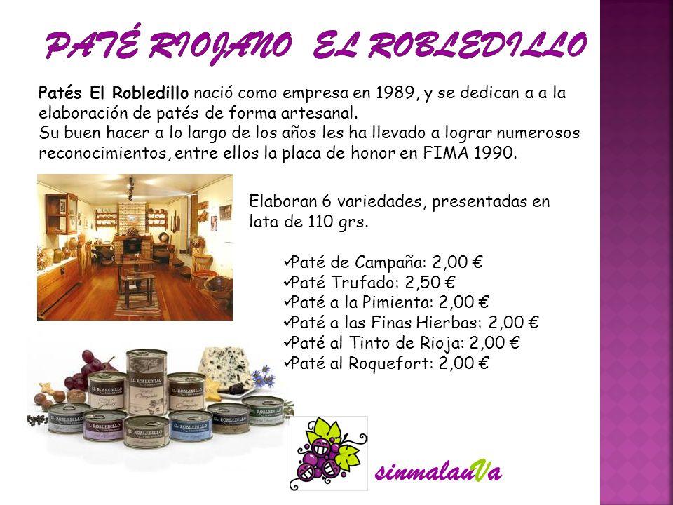 Patés El Robledillo nació como empresa en 1989, y se dedican a a la elaboración de patés de forma artesanal. Su buen hacer a lo largo de los años les
