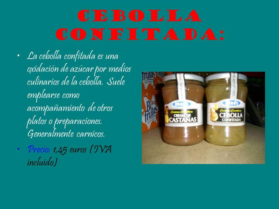 Cebolla confitada: La cebolla confitada es una oxidación de azúcar por medios culinarios de la cebolla. Suele emplearse como acompañamiento de otros p