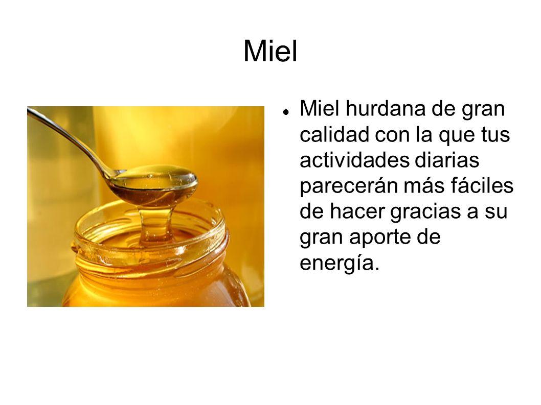 Miel Miel hurdana de gran calidad con la que tus actividades diarias parecerán más fáciles de hacer gracias a su gran aporte de energía.
