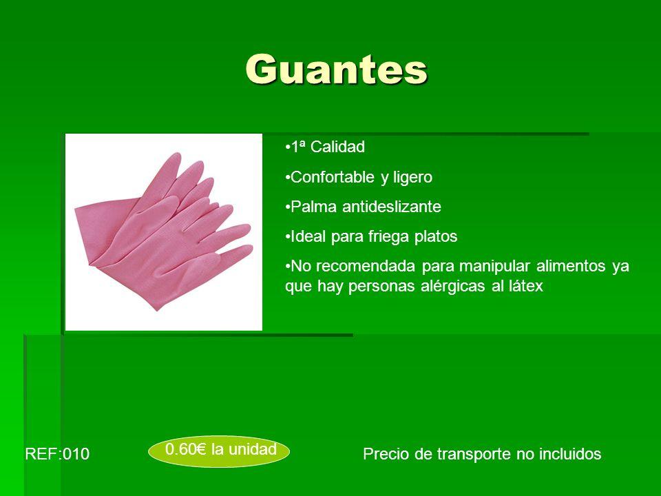 Guantes Precio de transporte no incluidosREF:010 0.60 la unidad 1ª Calidad Confortable y ligero Palma antideslizante Ideal para friega platos No recom