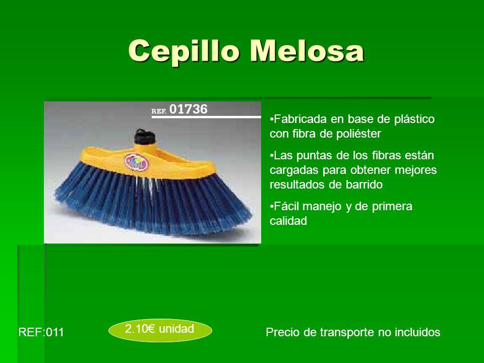 Cepillo Melosa Precio de transporte no incluidosREF:011 2.10 unidad Fabricada en base de plástico con fibra de poliéster Las puntas de los fibras está