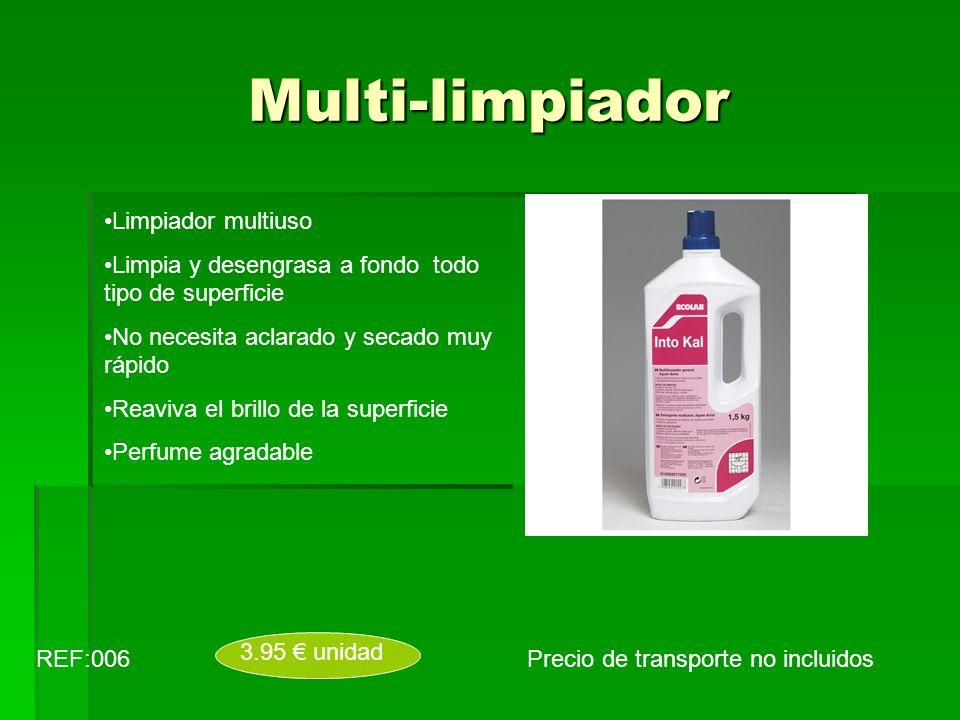 Multi-limpiador Precio de transporte no incluidosREF:006 3.95 unidad Limpiador multiuso Limpia y desengrasa a fondo todo tipo de superficie No necesit