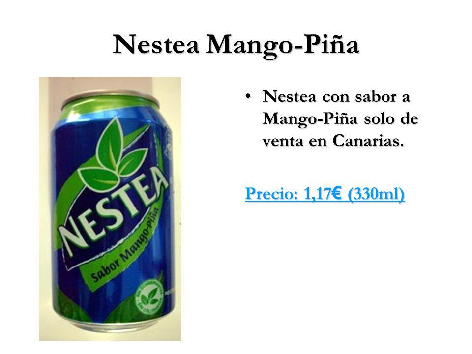 Nestea Mango-Piña Nestea con sabor a Mango-Piña solo de venta en Canarias.Nestea con sabor a Mango-Piña solo de venta en Canarias. Precio: 1,17 (330ml