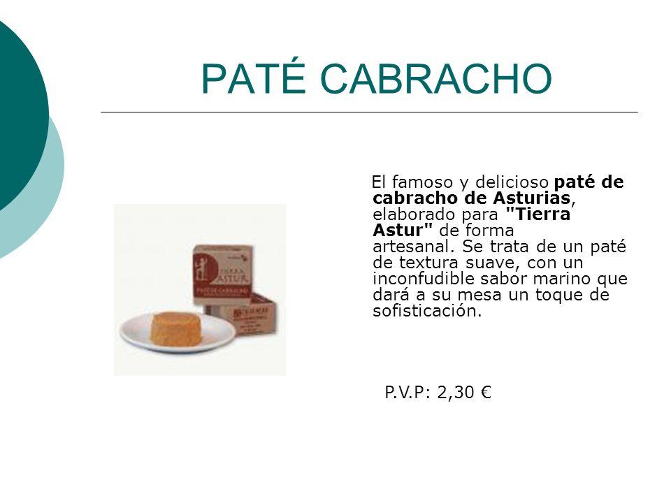 PATÉ CABRACHO El famoso y delicioso paté de cabracho de Asturias, elaborado para