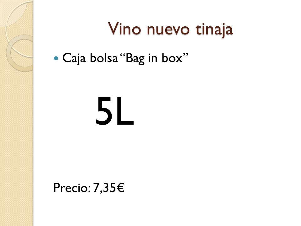 Vino nuevo tinaja Caja bolsa Bag in box Precio: 7,35 5L