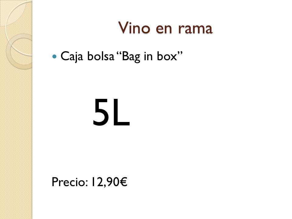 Vino en rama Caja bolsa Bag in box Precio: 12,90 5L