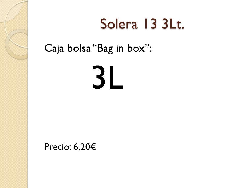 Vino nuevo tinaja Caja bolsa Bag in box Precio: 5,10 3L
