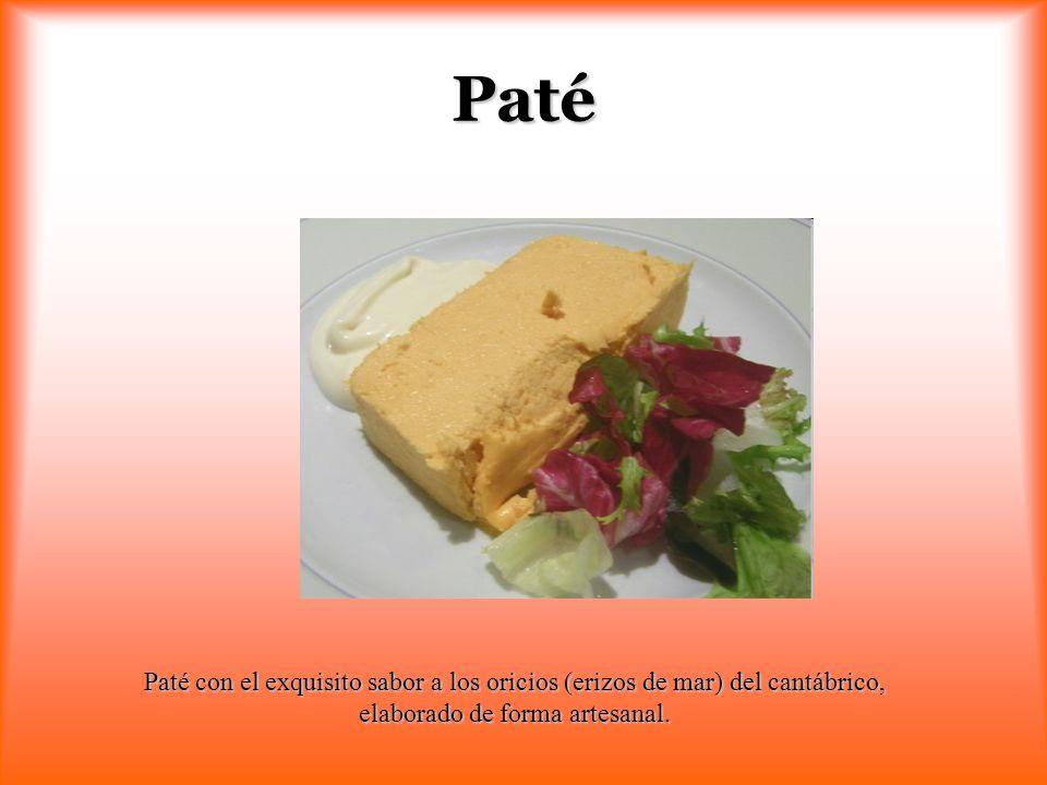 Paté Paté con el exquisito sabor a los oricios (erizos de mar) del cantábrico, elaborado de forma artesanal.