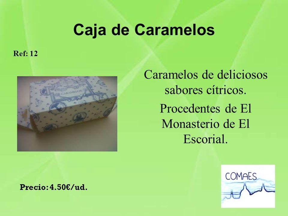 Caja de Caramelos Caramelos de deliciosos sabores cítricos. Procedentes de El Monasterio de El Escorial. Ref: 12 Precio: 4.50/ud.