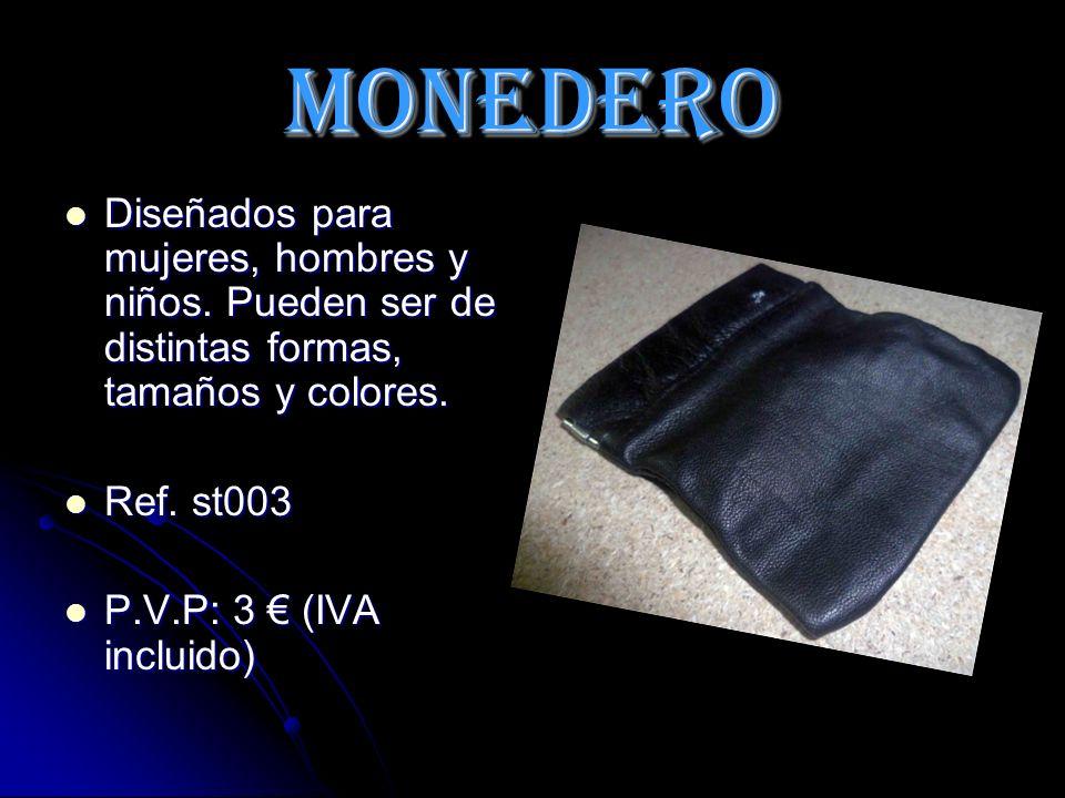 MONEDERO Diseñados para mujeres, hombres y niños.