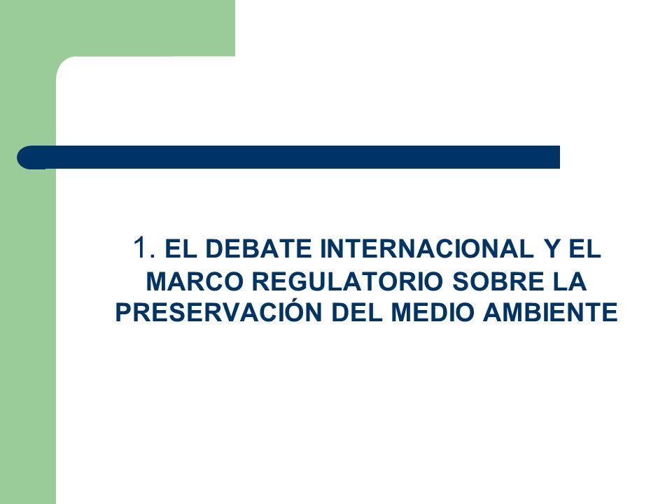1. EL DEBATE INTERNACIONAL Y EL MARCO REGULATORIO SOBRE LA PRESERVACIÓN DEL MEDIO AMBIENTE