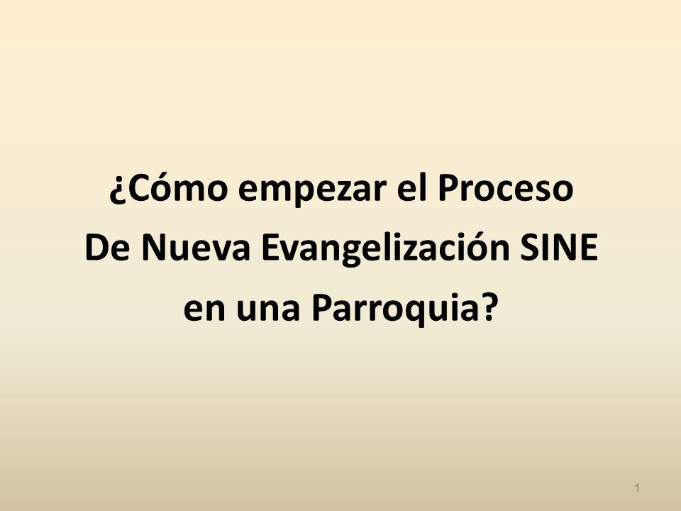 ¿Cómo empezar el Proceso De Nueva Evangelización SINE en una Parroquia? 1