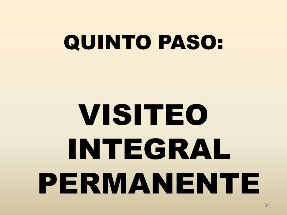 QUINTO PASO: VISITEO INTEGRAL PERMANENTE 34