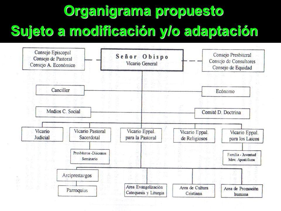 13 Organigrama propuesto Sujeto a modificación y/o adaptación