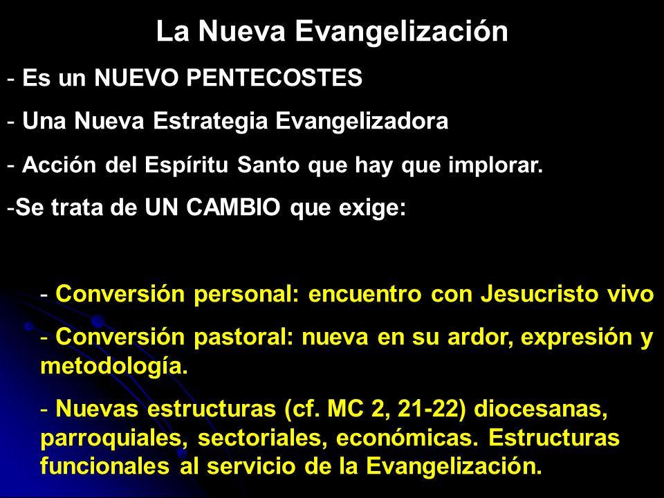 La Nueva Evangelización - Es un NUEVO PENTECOSTES - Una Nueva Estrategia Evangelizadora - Acción del Espíritu Santo que hay que implorar. -Se trata de