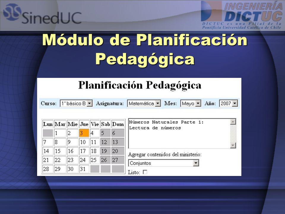 Módulo de Planificación Pedagógica