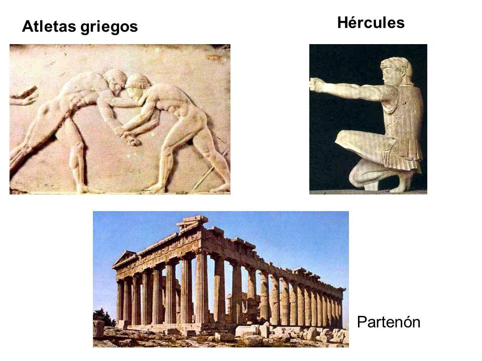 Atletas griegos Hércules Partenón