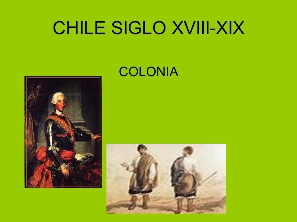 CHILE SIGLO XVIII-XIX COLONIA