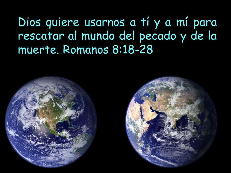 Dios quiere usarnos a tí y a mí para rescatar al mundo del pecado y de la muerte. Romanos 8:18-28