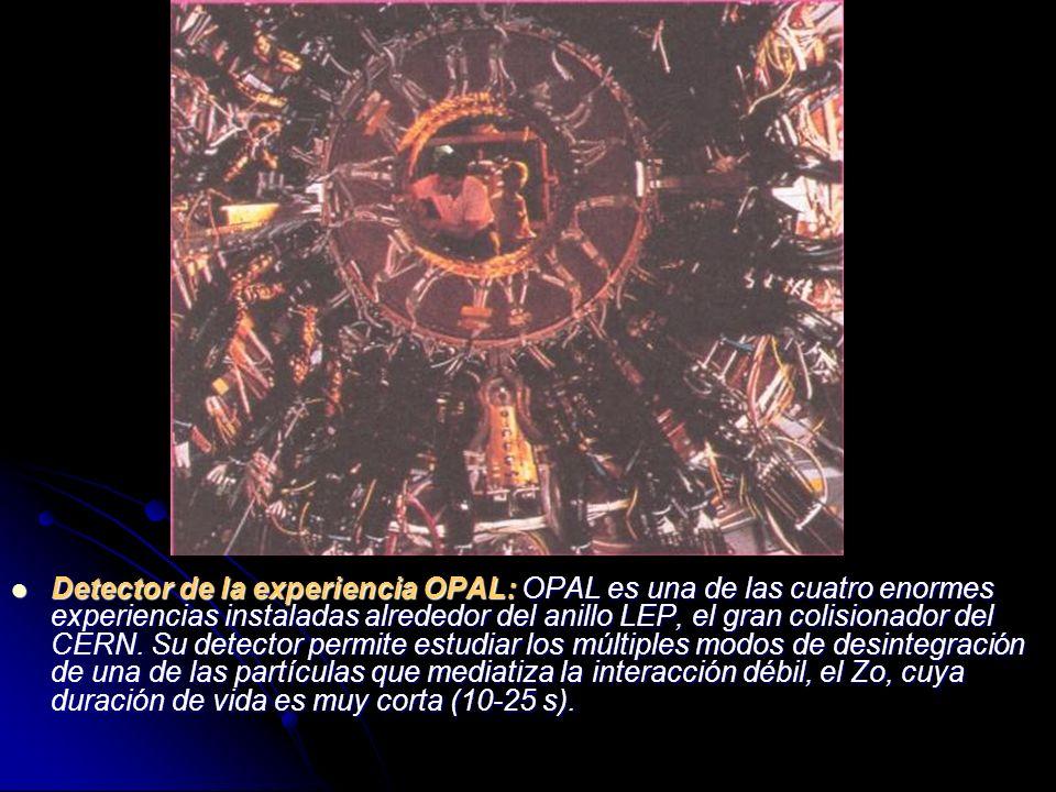 Detector de la experiencia OPAL: OPAL es una de las cuatro enormes experiencias instaladas alrededor del anillo LEP, el gran colisionador del CERN. Su