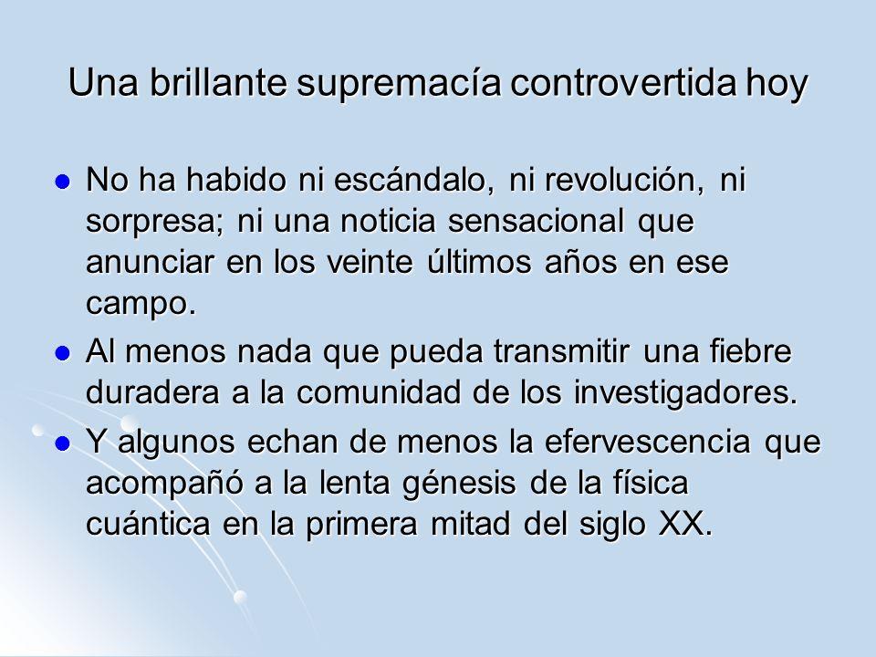 Una brillante supremacía controvertida hoy No ha habido ni escándalo, ni revolución, ni sorpresa; ni una noticia sensacional que anunciar en los veint