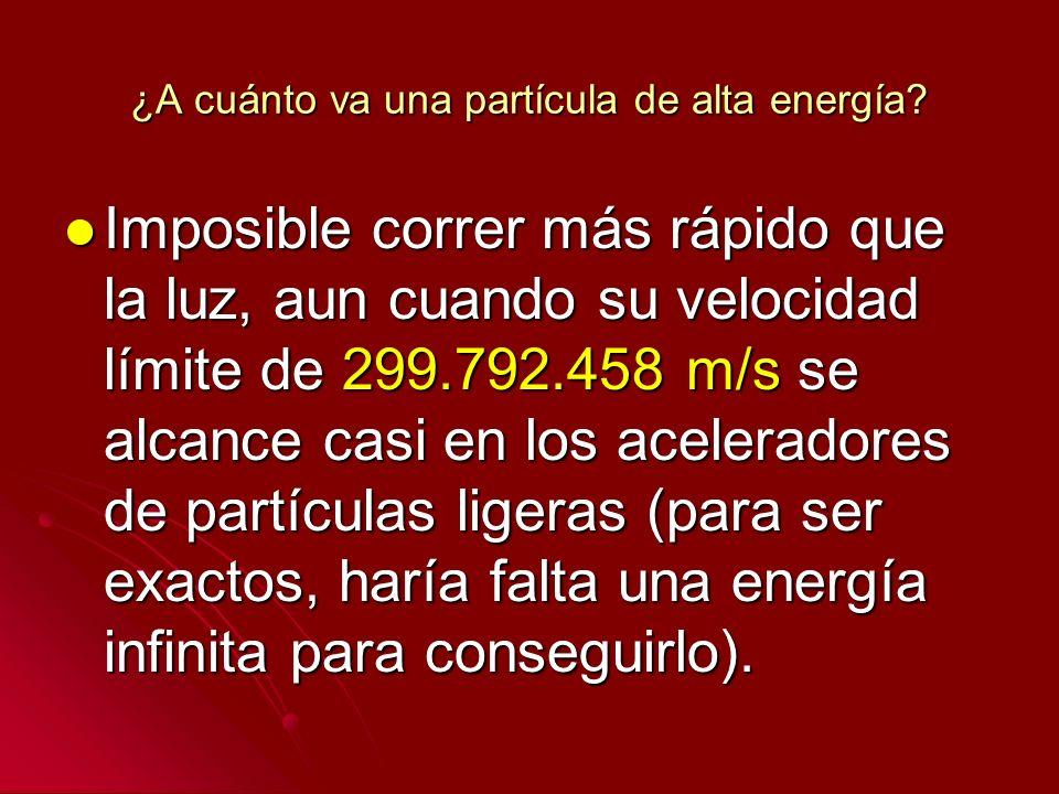 ¿A cuánto va una partícula de alta energía? Imposible correr más rápido que la luz, aun cuando su velocidad límite de 299.792.458 m/s se alcance casi