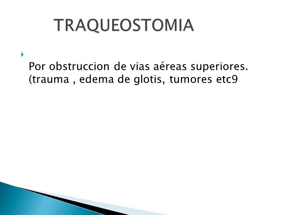 Por obstruccion de vias aéreas superiores. (trauma, edema de glotis, tumores etc9