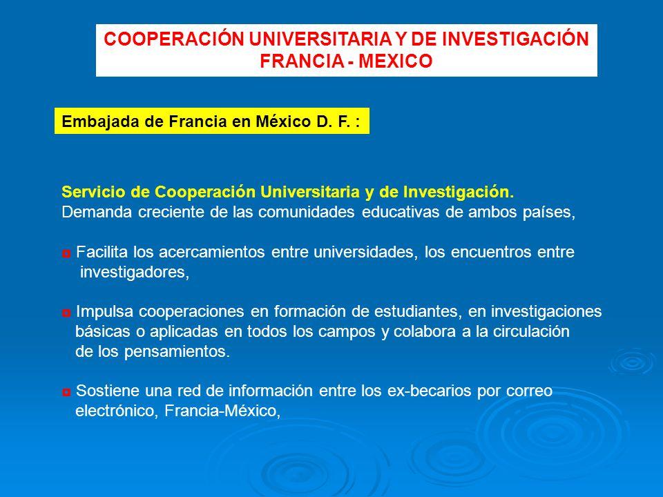Servicio de Cooperación Universitaria y de Investigación.