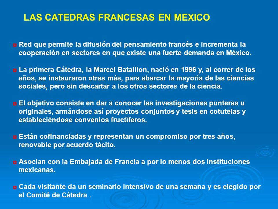 Red que permite la difusión del pensamiento francés e incrementa la cooperación en sectores en que existe una fuerte demanda en México. La primera Cát
