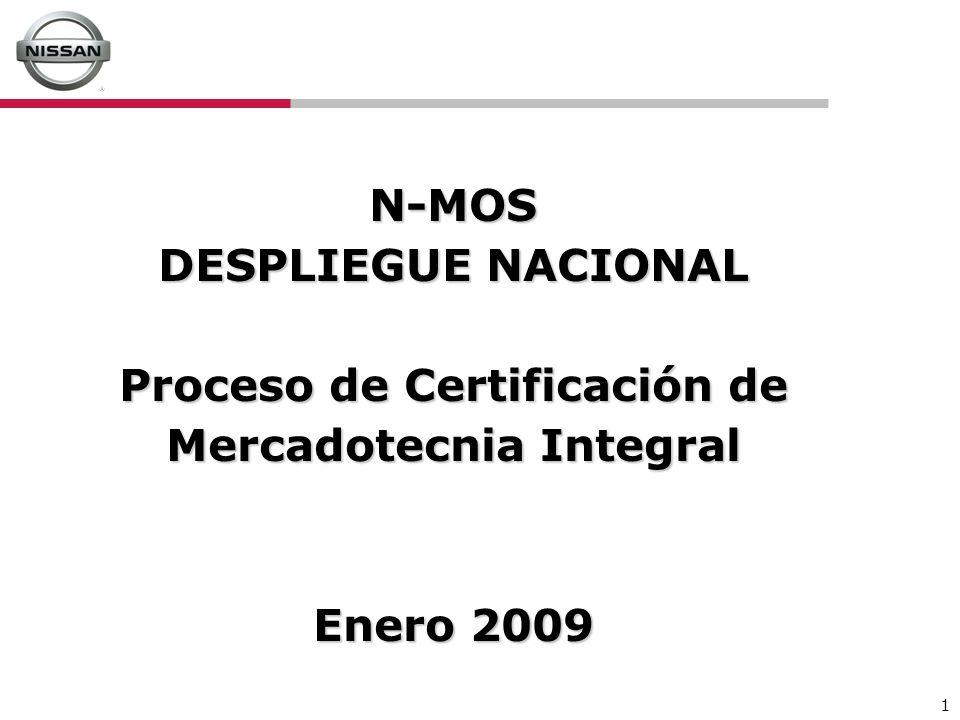 1 N-MOS DESPLIEGUE NACIONAL Proceso de Certificación de Mercadotecnia Integral Enero 2009
