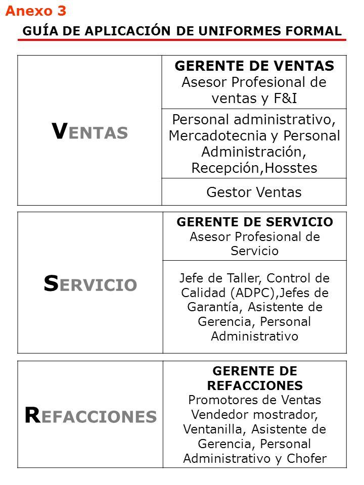 Asesor Profesional de ventas y F&I Mercadotecnia, Asistentes de Gerencia y Administrativo ZONA METROPOLITANA Y PROVINCIA ( Obligatorio Excepto Zonas Calidas) GUÍA DE APLICACIÓN DE UNIFORMES 1.GRIS MEDIO CABALLERO1.