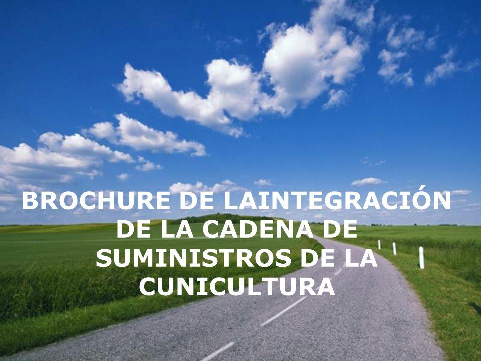 Page 1 BROCHURE DE LAINTEGRACIÓN DE LA CADENA DE SUMINISTROS DE LA CUNICULTURA