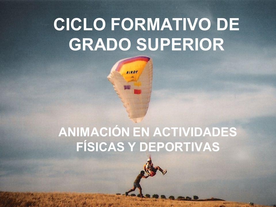 CICLO FORMATIVO DE GRADO SUPERIOR ANIMACIÓN EN ACTIVIDADES FÍSICAS Y DEPORTIVAS