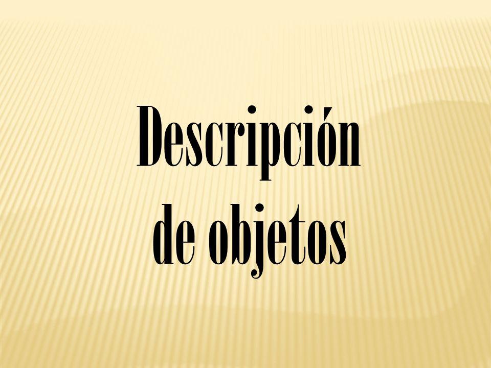 Descripción de objetos