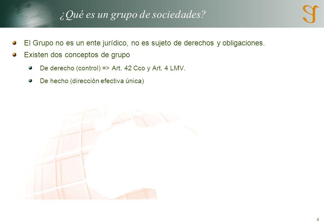 4 ¿Qué es un grupo de sociedades.